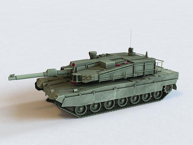 K2 Black Panther Tank 3d model