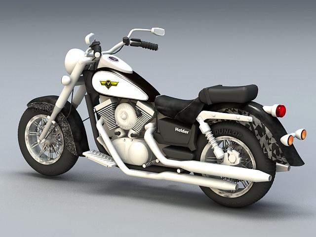 Kawasaki Cruiser Motorcycle 3D model