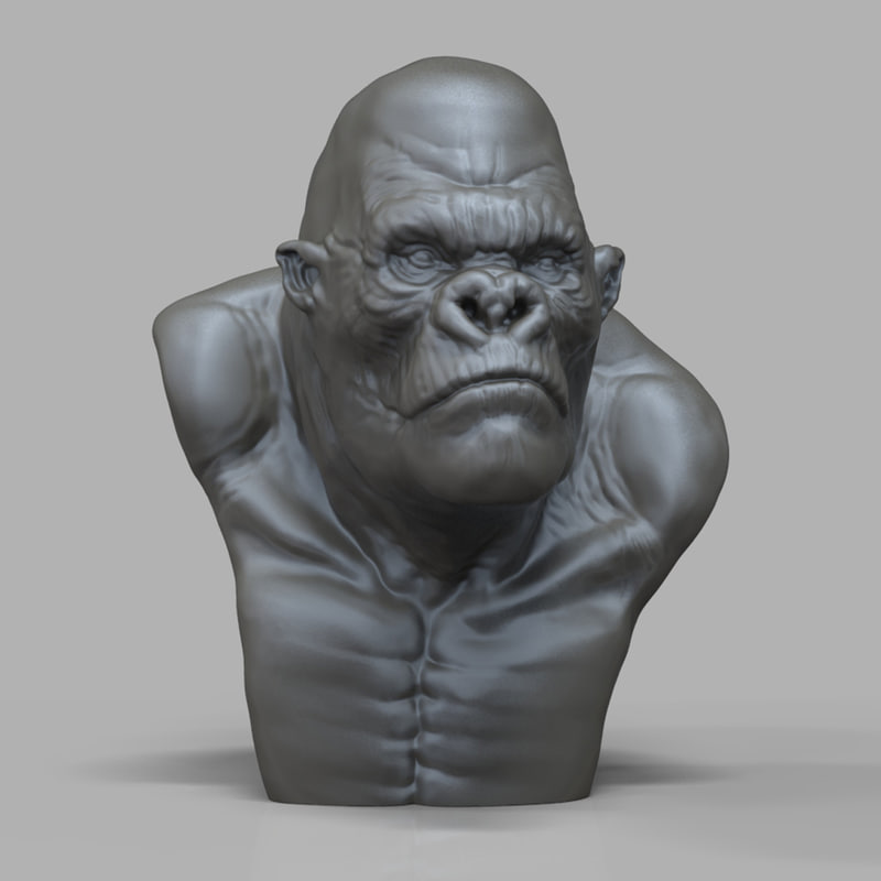 King Kong Bust 3D model