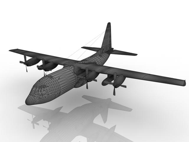 Lockheed C-130 Hercules 3D model