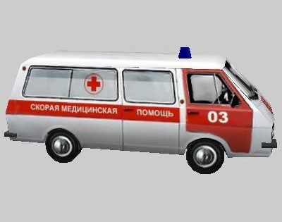 Low Poly Ambulance RAF 22031