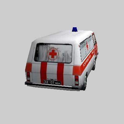Low Poly Ambulance RAF 22031 3D model