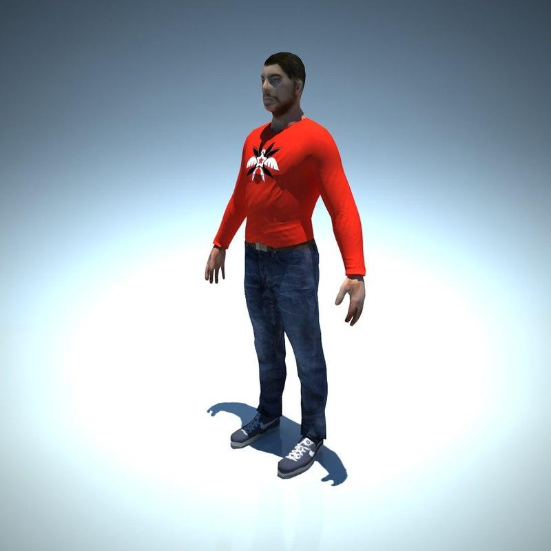 Man character 3D model