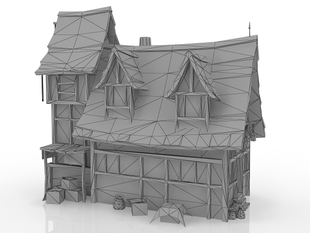 Fantasy medieval house 3D model