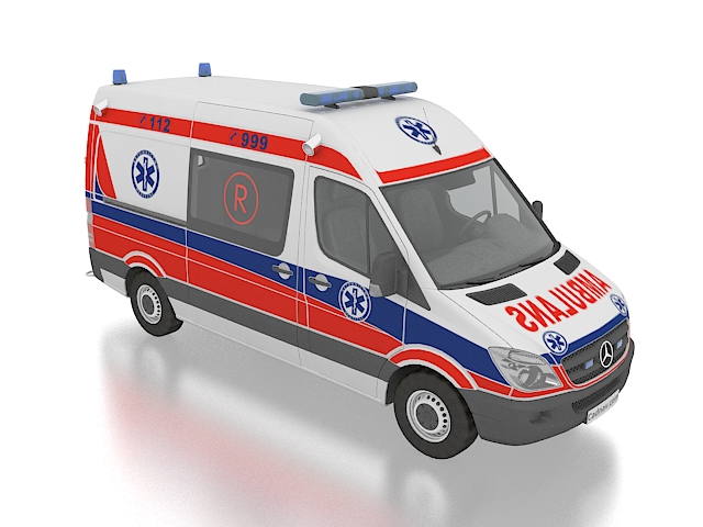 Mercedes Benz Sprinter Ambulance 3D model