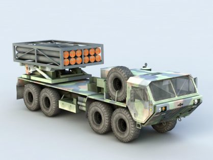 Mobile Missile Launcher Truck
