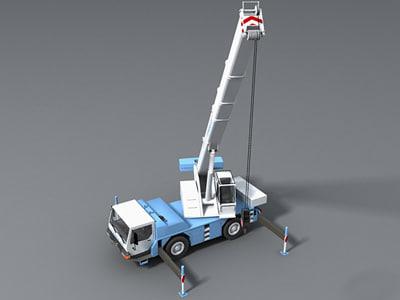 Mobile crane Liebherr LTM 1030 3D model