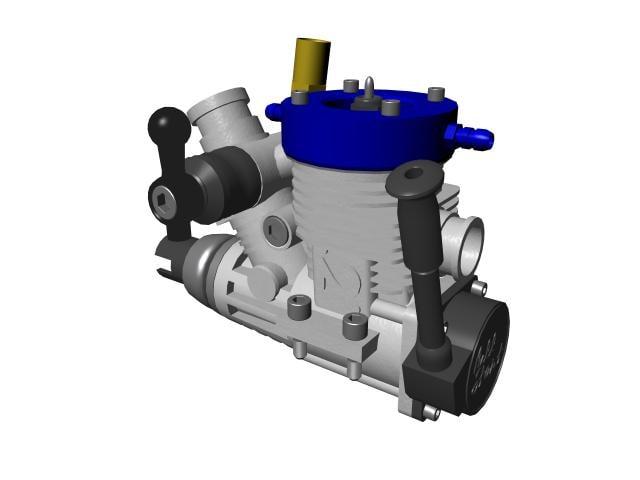 Nitro engine 3D model