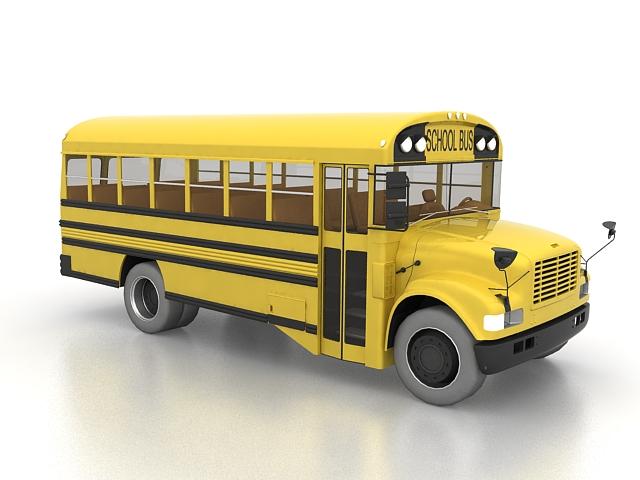 North American school Bus 3D model