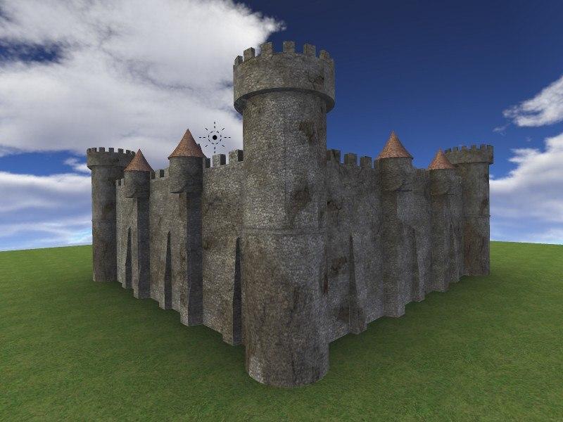 Old Castle 3D model