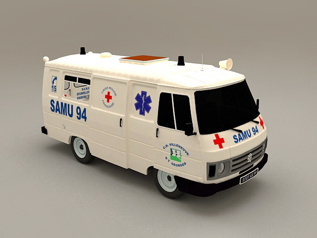 Peogeot Ambulance Car 3D model