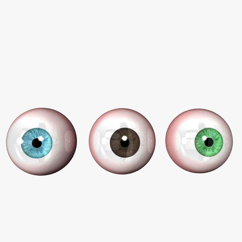 Realistic Eyeball 3D model