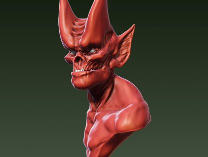 Red Demon Head