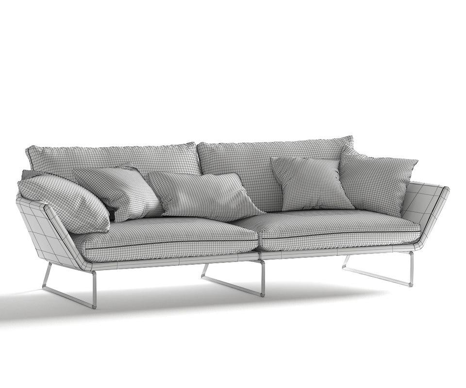 Red Sofa 3D model