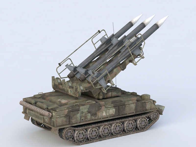 SA-6 Gainful Missile System 3D model