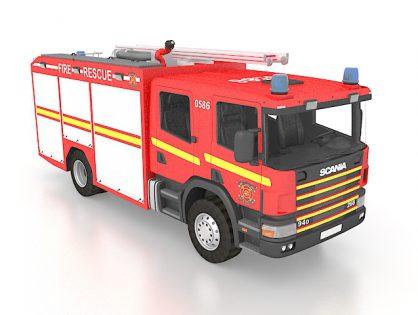 Scania fire truck 3D model