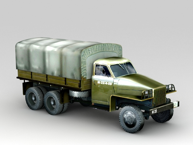Studebaker U3 Furgon 3D model