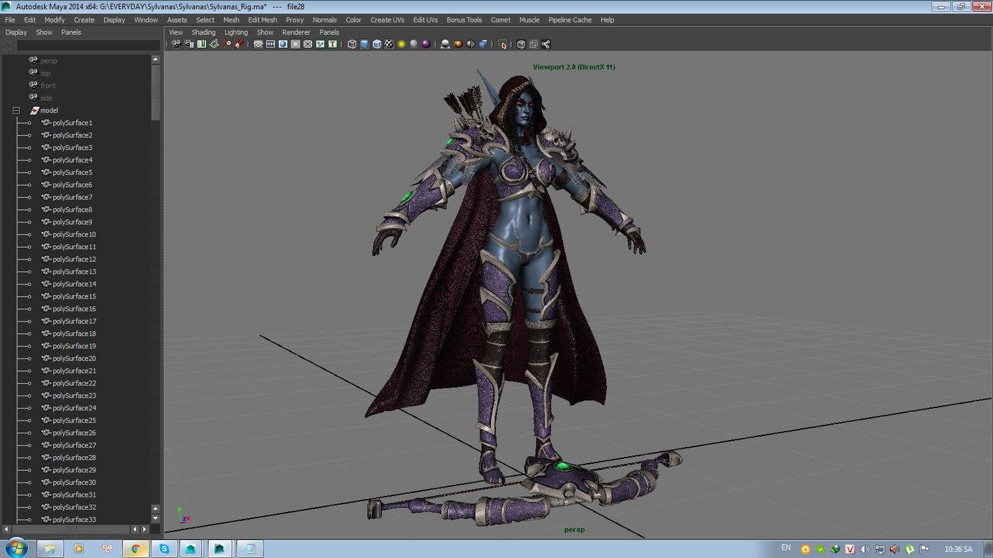 Sylvanas Windrunner 3D model