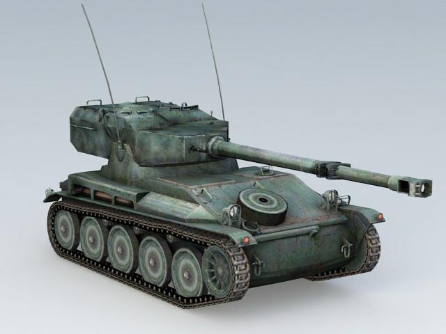 Tank AMX 12T 3D model