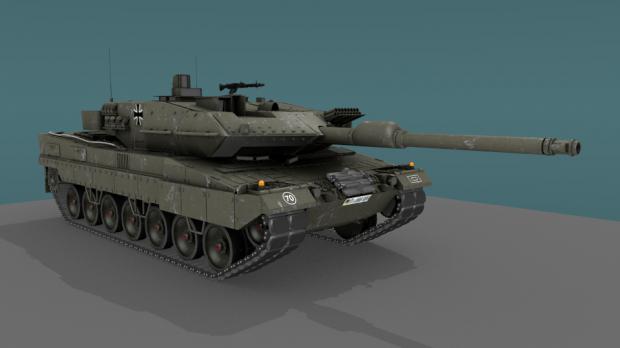 Tank Leopard 2A6 MBT 3D model