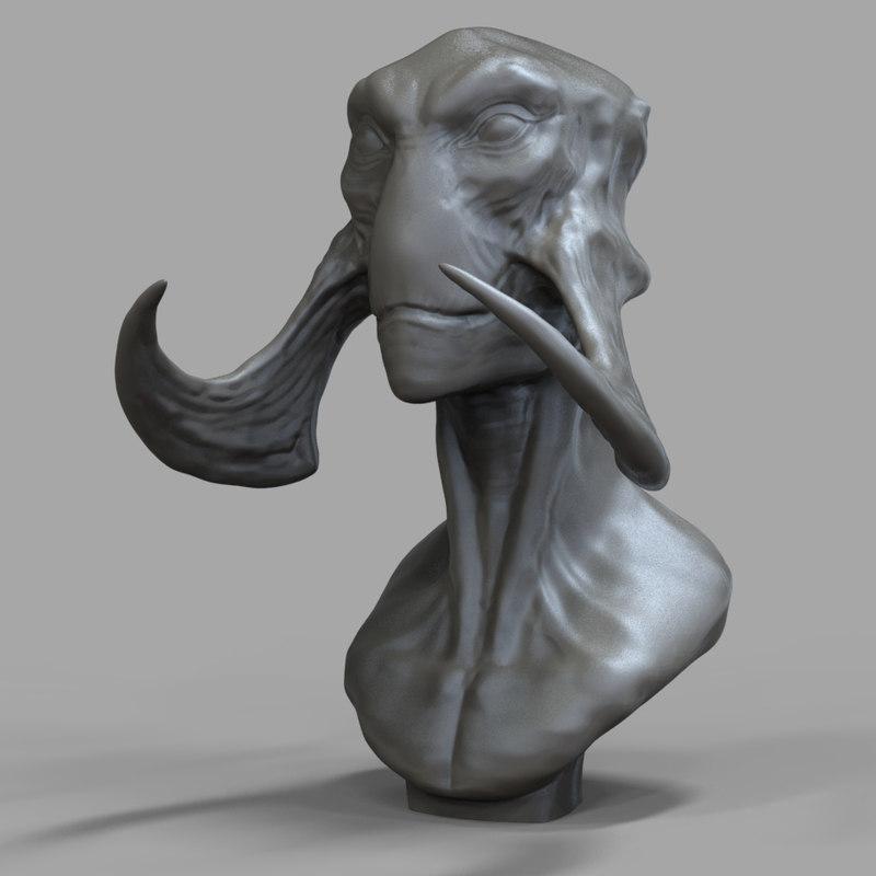 Tars Tarkus Bust 3D model