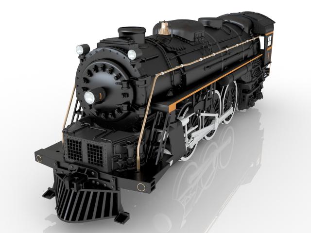Toy Locomotive 3D model