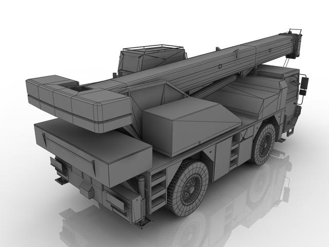 Truck crane 3D model