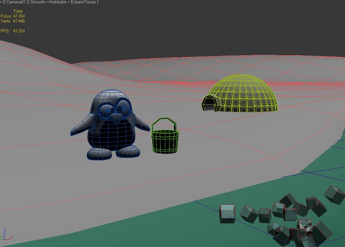 Tux Penguin 3D model