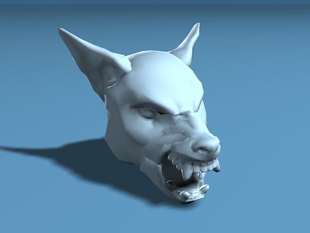 Wolf Head Skull 3D model