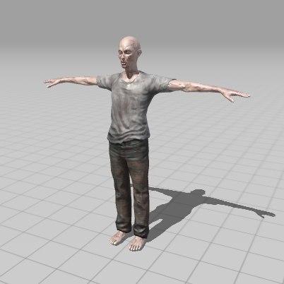 Zombie man 3D model