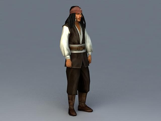 Captain Jack Sparrow 3d model