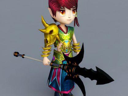 Cartoon Warrior Boy