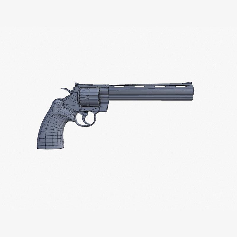 Colt Python 8 inch 3d model