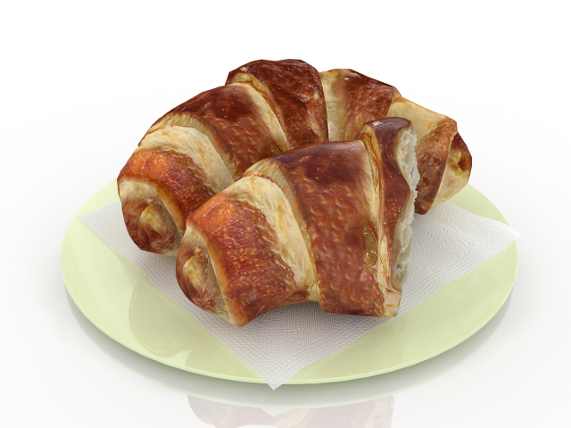 Croissants 3d model