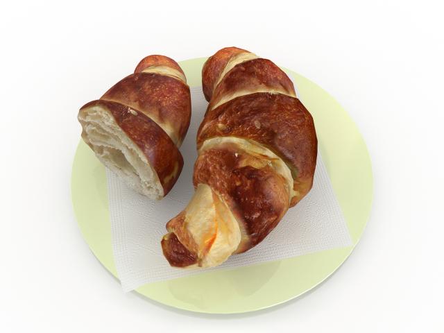 Croissants 3d model