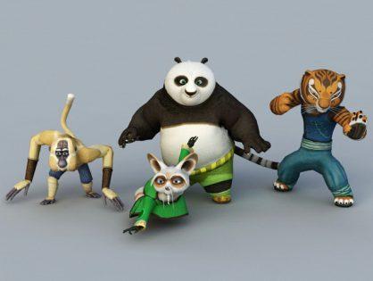 Kung Fu Panda 3d model