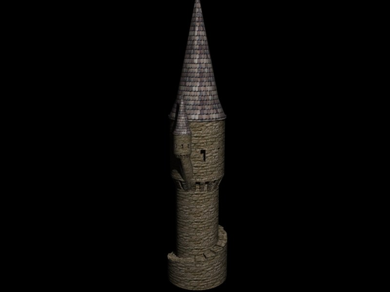 Stone Tower 3d model