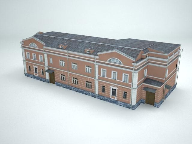Town Houses 3d model