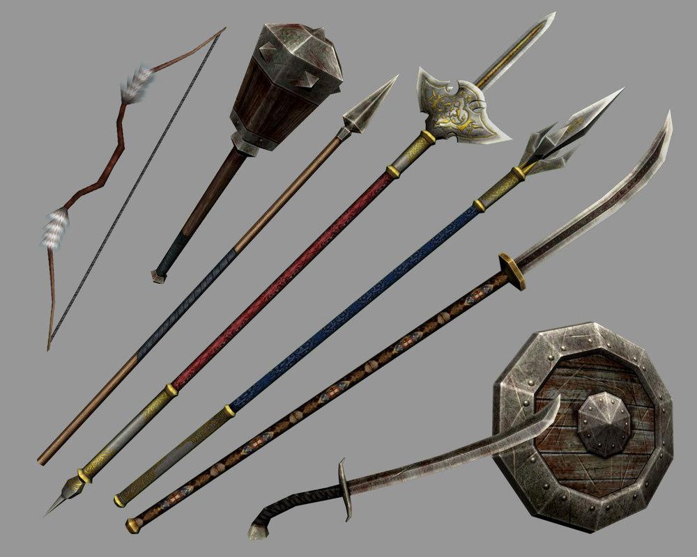 Ancient weapons 3D model