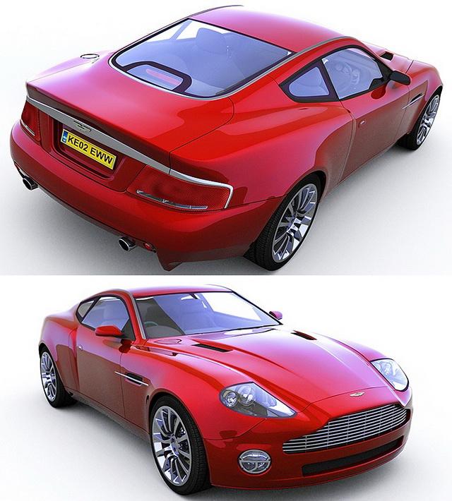 2012 Aston Martin Vantage Interior: Aston Martin V12 Vantage 3D Model Download For Free