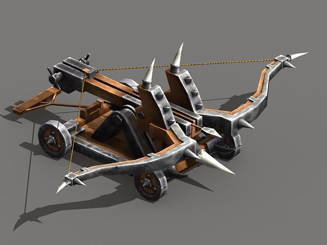 Ballista medieval weapon 3D model