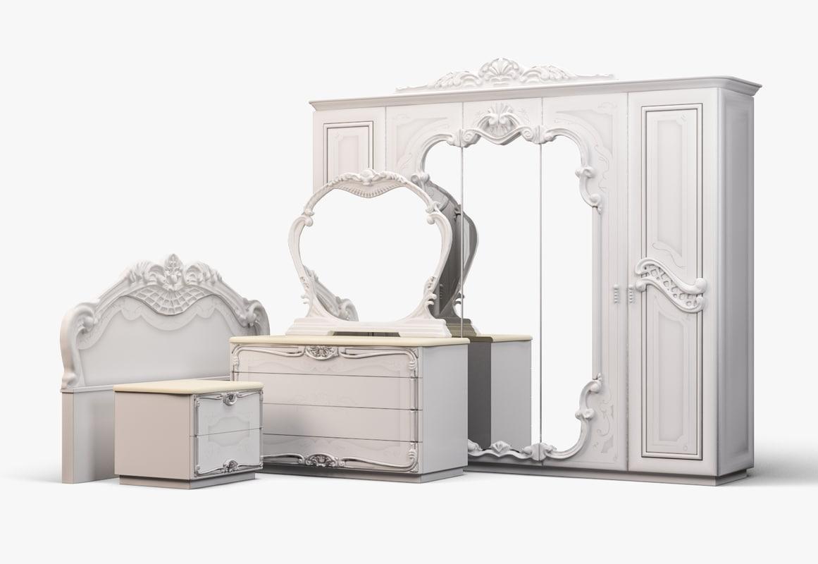 Bedroom sets 3D model