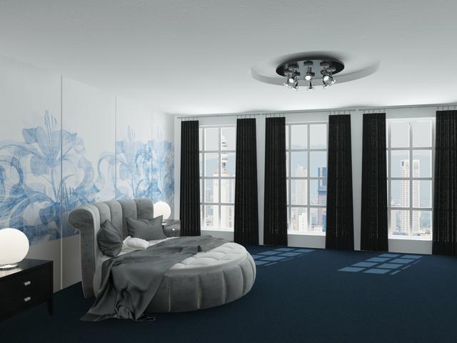 Blue bedroom 3D model
