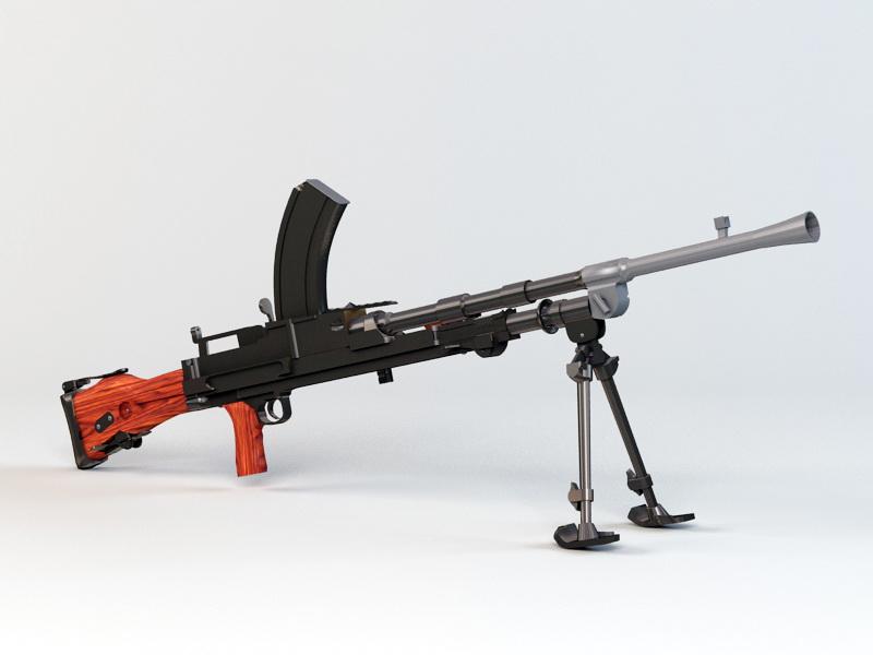 Bren Mk1 Machine Gun 3D model