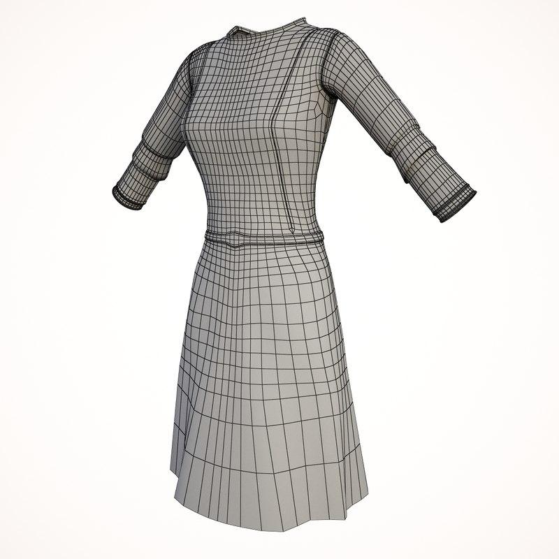 Dress Flower 3D model