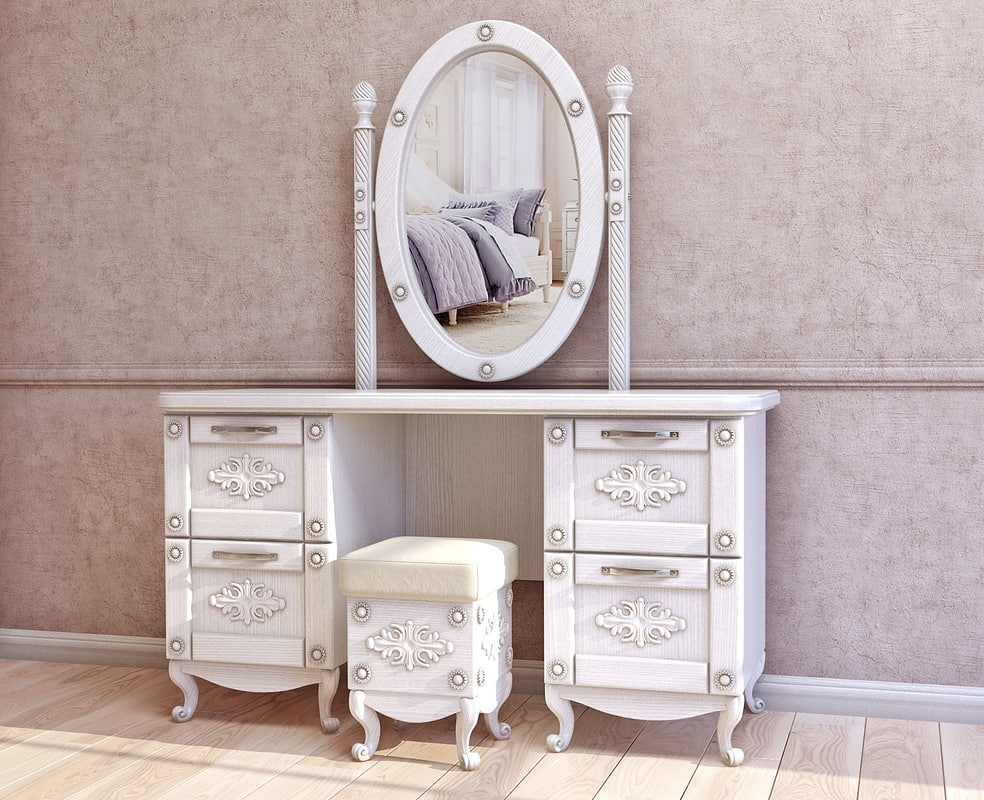 Dresser with mirror 3D model