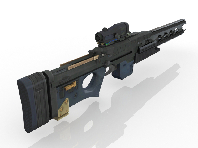Electromagnetic Rifle 3D model