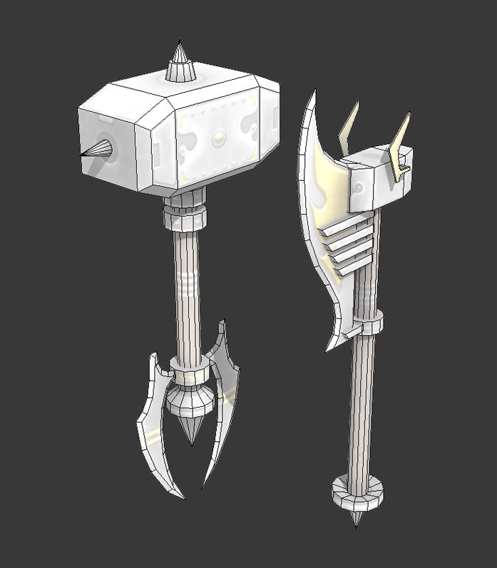 Fantasy melee weapons 3D model