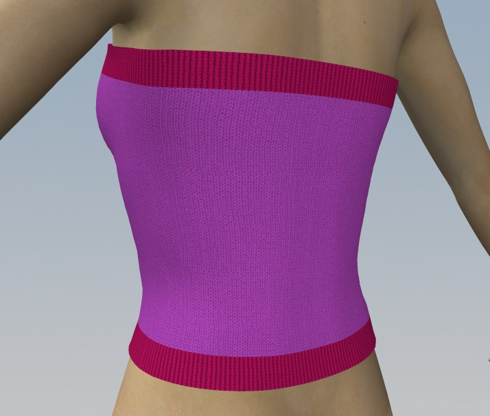 Female knitted top 3D model
