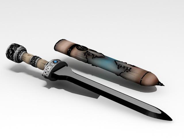 Greek Dagger 3D model